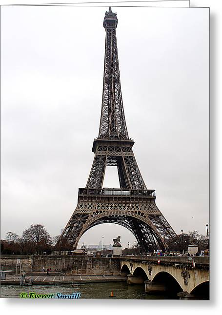 Everett Spruill Photographs Greeting Cards - Eiffel Tower 7 Greeting Card by Everett Spruill