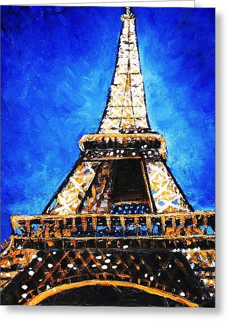 Eiffel Tower Greeting Card by Anastasiya Malakhova
