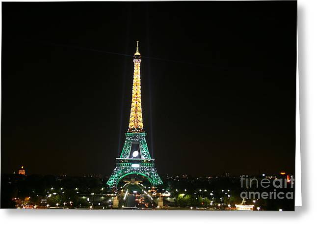Kansas City Photographer Greeting Cards - Eiffel Tower at Night Greeting Card by Crystal Nederman