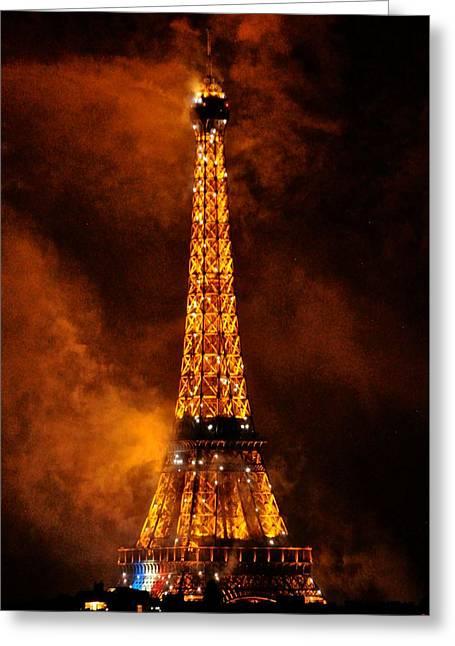 Bastille Greeting Cards - Eiffel Grandeur Greeting Card by Csilla Florida