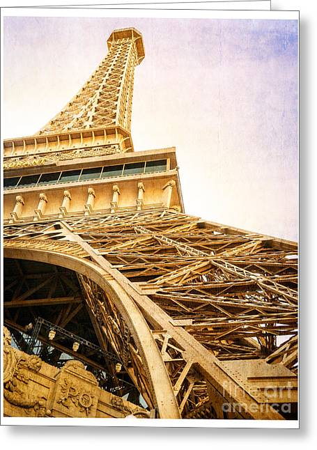 Visit Greeting Cards - Eiffel Tower Greeting Card by Edward Fielding