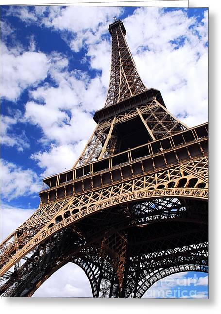 Architecture Greeting Cards - Eiffel tower Greeting Card by Elena Elisseeva