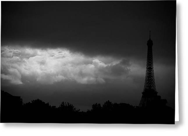 Eiffel Photographs Greeting Cards - Eiffel Tower Greeting Card by Fabrizio Troiani