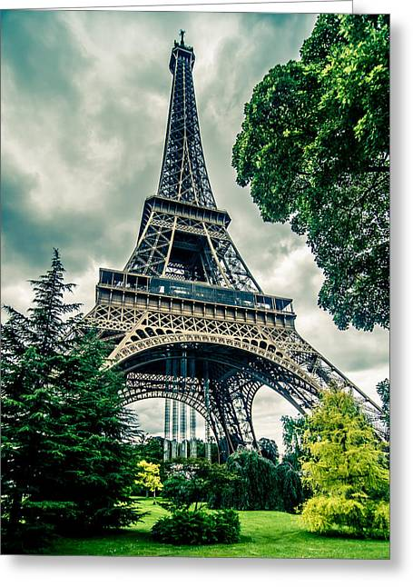 Wife Greeting Cards - Eiffel Tower in HDR Greeting Card by Amel Dizdarevic