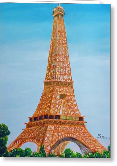 Until Now Greeting Cards - Eiffel Tower In The Spring Greeting Card by Irving Starr