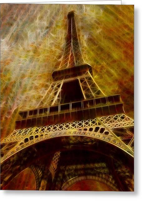 Platform. Level Greeting Cards - Eiffel Tower Greeting Card by Jack Zulli