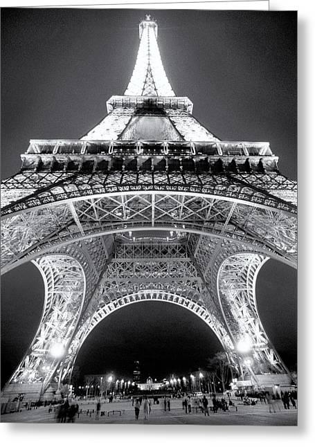 Eiffel Tower Greeting Card by John Gusky