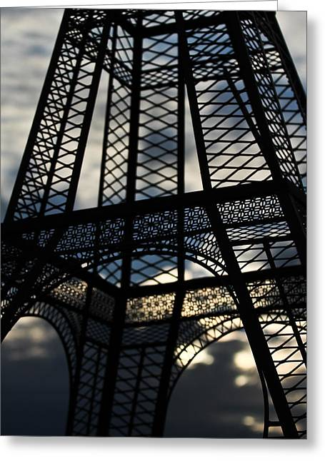 Raw Oyster Greeting Cards - Eiffel Tower Greeting Card by Jp Grace