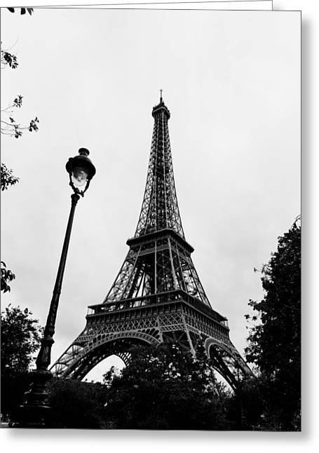 Vertigo Greeting Cards - Eiffel Tower  Greeting Card by Maj Seda