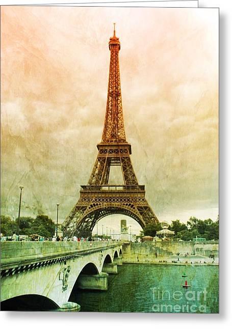 Eiffel Tower Mood Greeting Card by Carol Groenen