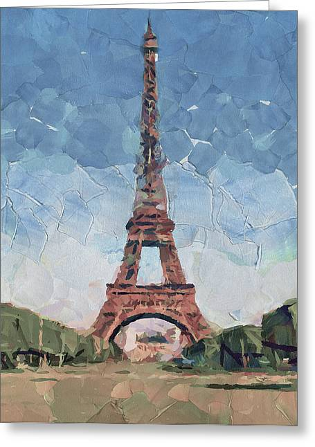 Old Town Digital Greeting Cards - Eiffel Tower Nice 2 Greeting Card by Yury Malkov