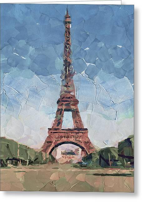 Old Town Digital Art Greeting Cards - Eiffel Tower Nice 2 Greeting Card by Yury Malkov