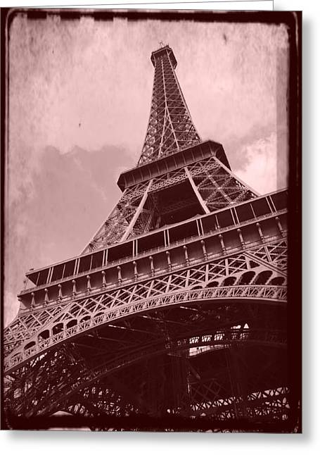 Interior Scene Greeting Cards - Eiffel Tower - Old Style Greeting Card by Patricia Awapara