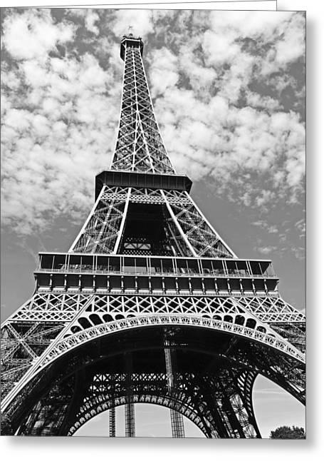 Eiffel Tower Paris Greeting Card by Gallery Of Modern Art