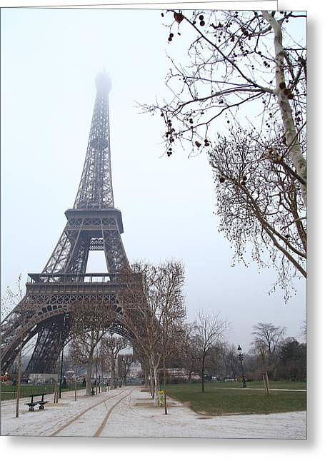 France Photographs Greeting Cards - Eiffel Tower - Paris France - 011314 Greeting Card by DC Photographer