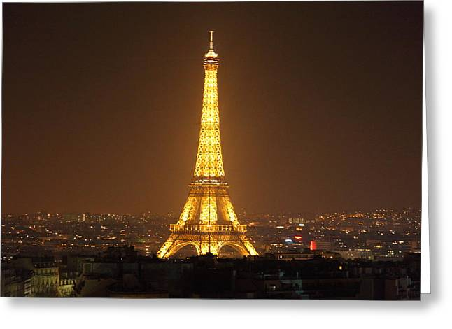 Famous Greeting Cards - Eiffel Tower - Paris France - 01132 Greeting Card by DC Photographer