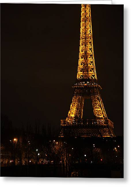 Eifel-tower Greeting Cards - Eiffel Tower - Paris France - 011321 Greeting Card by DC Photographer