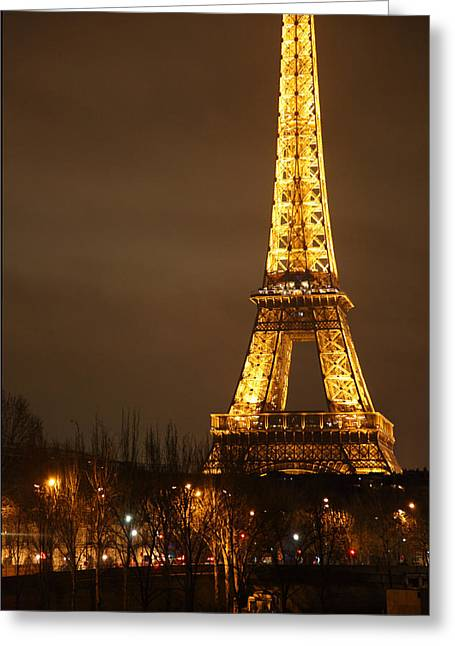 Citys Greeting Cards - Eiffel Tower - Paris France - 011322 Greeting Card by DC Photographer