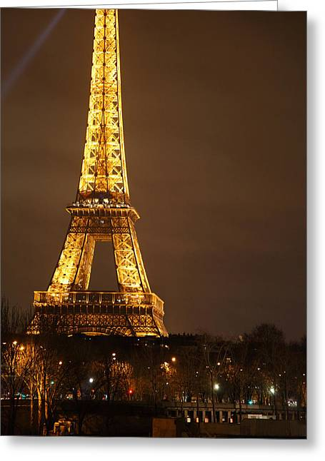 Antique Photographs Greeting Cards - Eiffel Tower - Paris France - 011324 Greeting Card by DC Photographer