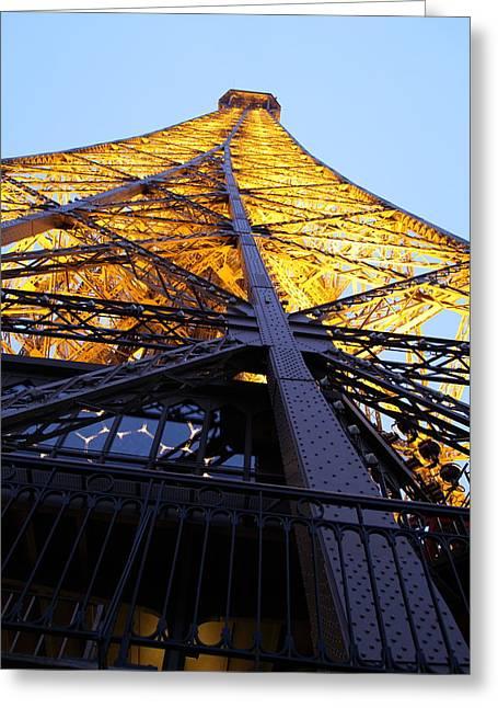 Metropolis Photographs Greeting Cards - Eiffel Tower - Paris France - 01133 Greeting Card by DC Photographer