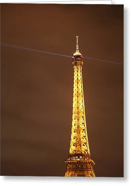 Metropolis Greeting Cards - Eiffel Tower - Paris France - 011330 Greeting Card by DC Photographer