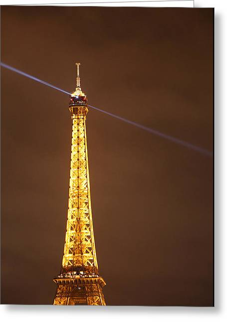 Steel Greeting Cards - Eiffel Tower - Paris France - 011332 Greeting Card by DC Photographer