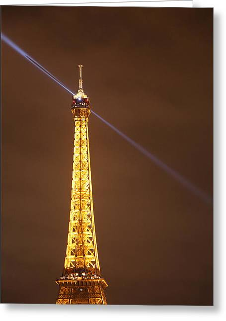 Perspective Greeting Cards - Eiffel Tower - Paris France - 011334 Greeting Card by DC Photographer