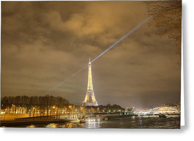 Eiffel Tower - Paris France - 011335 Greeting Card by DC Photographer