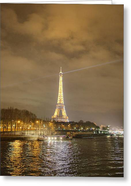 Eifel-turm Greeting Cards - Eiffel Tower - Paris France - 011337 Greeting Card by DC Photographer