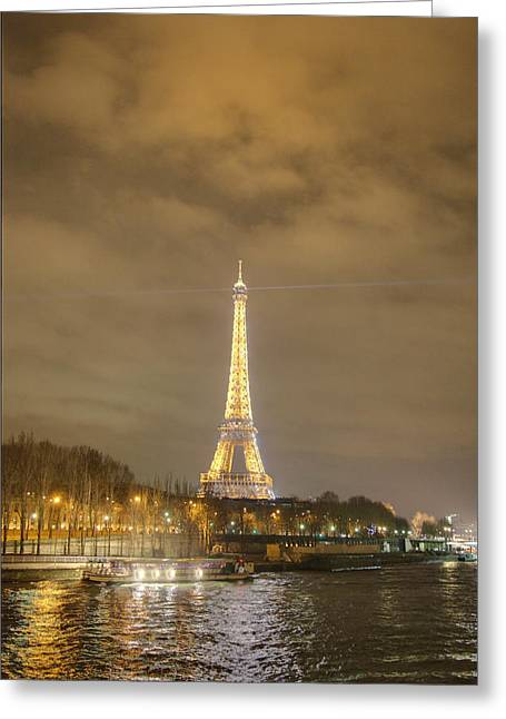 Powerful Greeting Cards - Eiffel Tower - Paris France - 011339 Greeting Card by DC Photographer