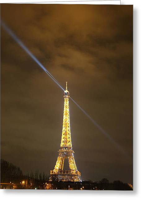 Eiffel Tower - Paris France - 011349 Greeting Card by DC Photographer