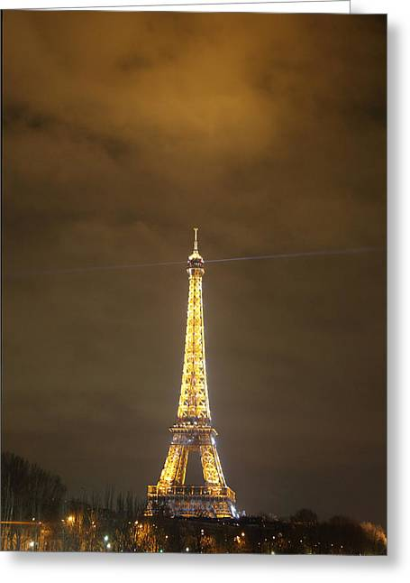 Defense Photographs Greeting Cards - Eiffel Tower - Paris France - 011352 Greeting Card by DC Photographer