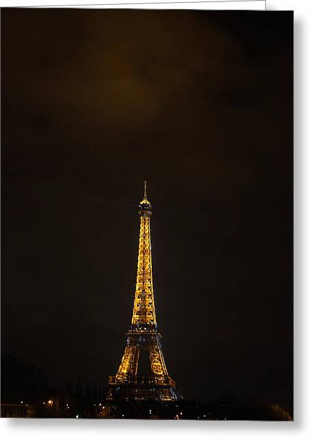 Antique Photographs Greeting Cards - Eiffel Tower - Paris France - 011353 Greeting Card by DC Photographer