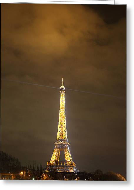 Attraction Greeting Cards - Eiffel Tower - Paris France - 011355 Greeting Card by DC Photographer