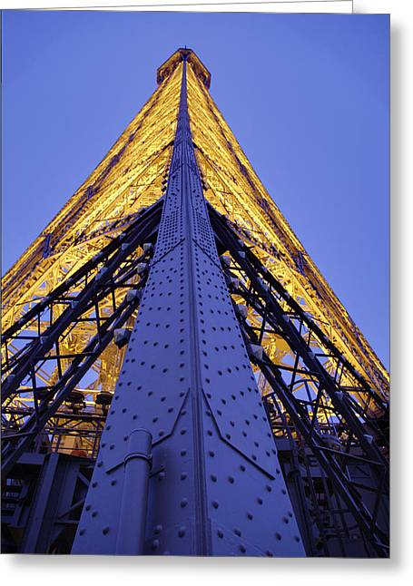 Destinations Greeting Cards - Eiffel Tower - Paris France - 01139 Greeting Card by DC Photographer