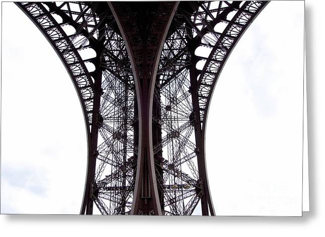 Ancient People Greeting Cards - Eiffel Tower. Paris. France. Europe Greeting Card by Bernard Jaubert