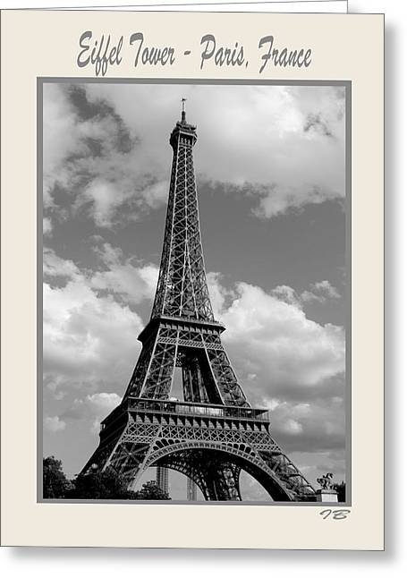 """france Poster"" Greeting Cards - Eiffel Tower  Paris France Greeting Card by Ivete Basso"