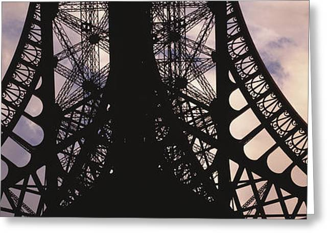 Fabrication Greeting Cards - Eiffel Tower Paris France Greeting Card by Panoramic Images