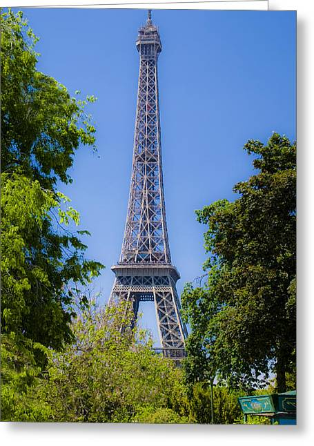 Europe Mixed Media Greeting Cards - Eiffel Tower - Paris Greeting Card by Michael Stephens