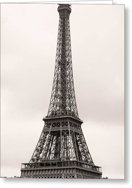 Eifel-tower Greeting Cards - Eiffel Tower Paris Greeting Card by Phill Petrovic