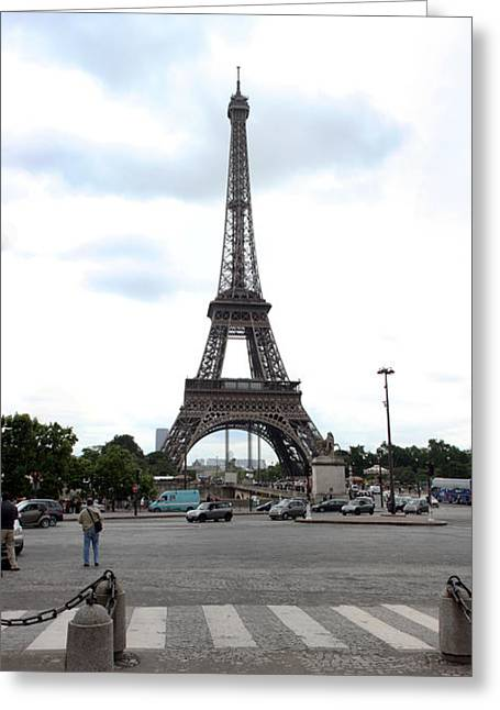 Bollard Greeting Cards - Eiffel Tower, Paris,ile-de-france Greeting Card by Panoramic Images