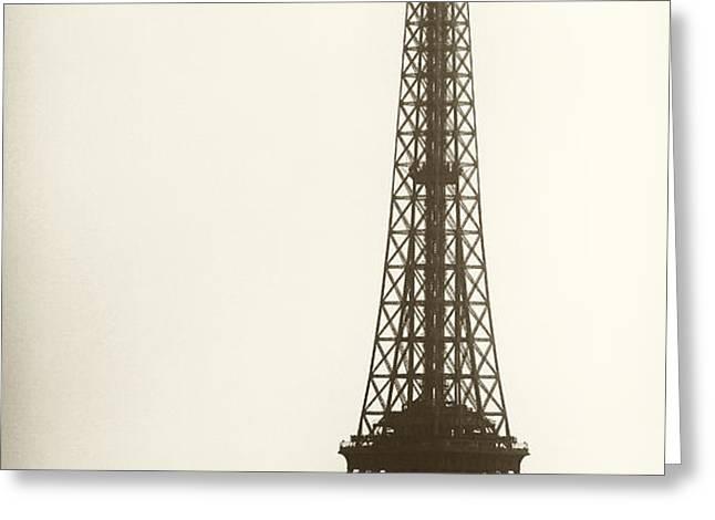 Eiffel Tower Silhouette Greeting Card by John Rizzuto