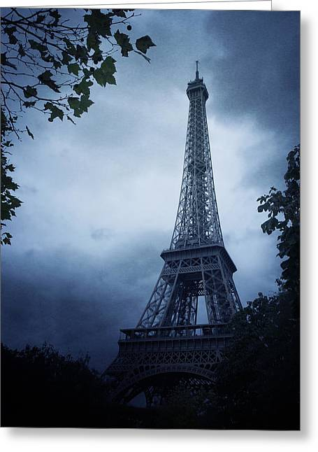 Bleak Greeting Cards - Eiffel Tower Greeting Card by Wojciech Zwolinski