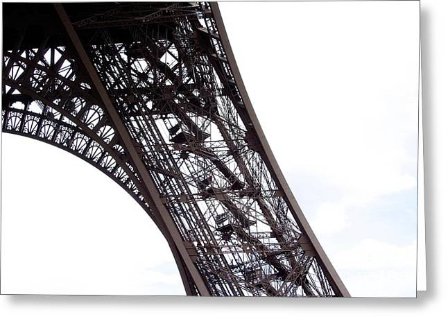 Architectural Detail Greeting Cards - Eiffel Tower.Paris Greeting Card by Bernard Jaubert