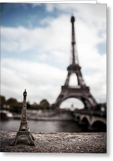 France Greeting Cards - Eiffel Trinket Greeting Card by Ryan Wyckoff