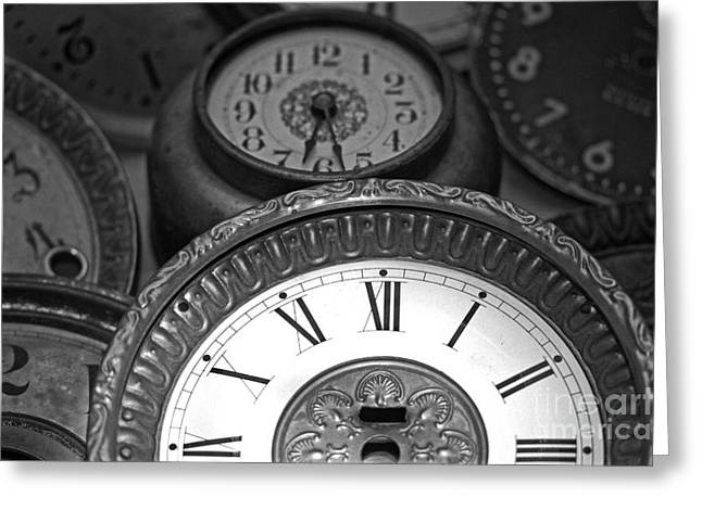 Eight Faces of Time Greeting Card by Tom Gari Gallery-Three-Photography