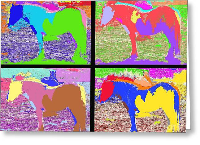 Modern Mobile Greeting Cards - Eight Horses Greeting Card by Patrick J Murphy