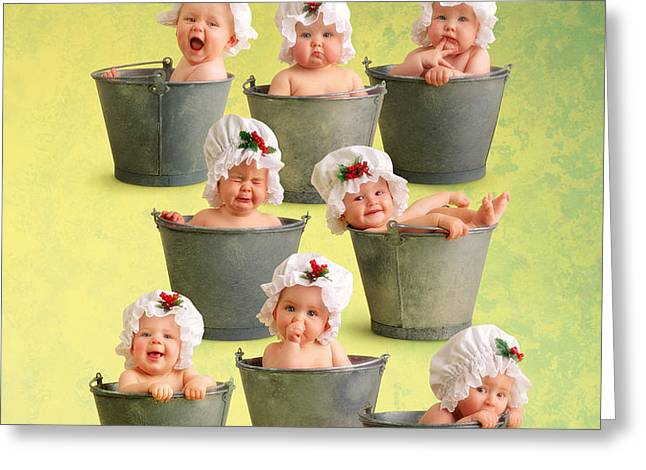 Eight Maids-a-Milking Greeting Card by Anne Geddes