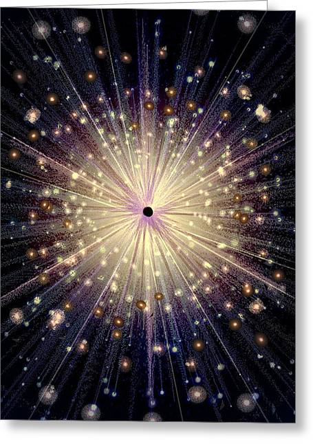 Janelle Schneider Greeting Cards - Eight of Wands/Stars - Artwork from the Science Tarot Greeting Card by Janelle Schneider