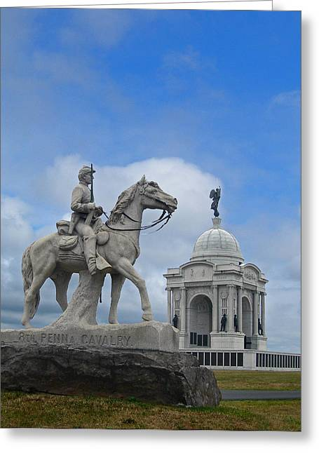 Penna Greeting Cards - Eighth Pa Cav And Pa Monuments Greeting Card by Skip Willits